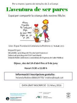 10032016_cartell L_aventura de ser pares_Escola Sant Fco_15_16