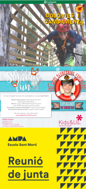 Imatge de colònies d'estiu Fundesplai, casal d'estiu Kids&Us i reunió de junta AMPA